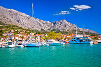 Town of Baska Voda waterfront view
