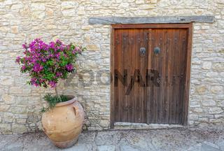 Old door in the wall