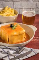 Francesinha on plate