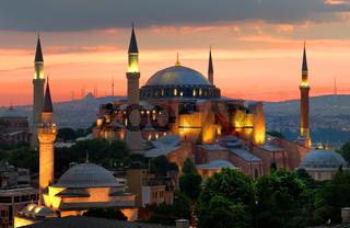 Hagia Sophia and sunset