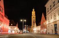 City of Schrobenhausen at night