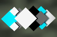 Connected cubes, 3d illustration