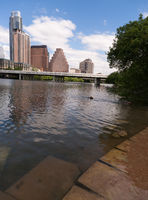 Smooth Reflection Austin Texas Downtown City Skyline Colorado River