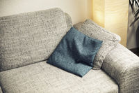 sofa with a cushion