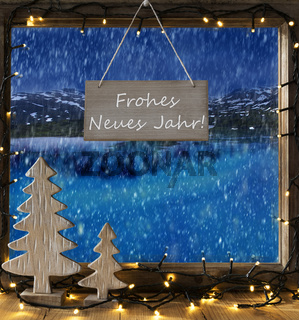 Window, Winter Scenery, Frohes Neues Means Happy New Year