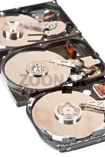 Three harddisks