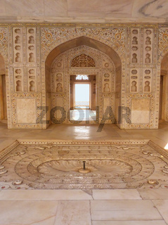 Interior of Khas Mahal in Agra Fort, Uttar Pradesh, India