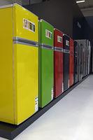 bunte Kühlschränke der Firma Bomann, Internationale Funkausstell