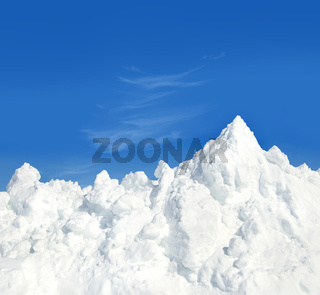 Mountain of snow