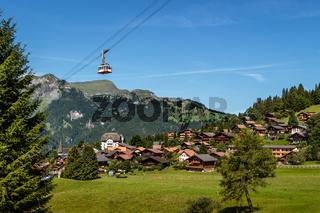 Aereal cableway over Wengen, Switzerland