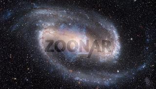 Spiral galaxy in space.