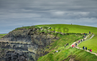 Walkway on the Cliffs of Moher