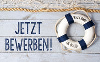 Jetzt bewerben - Welcome on Board