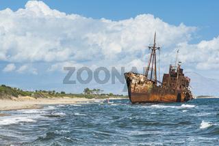 Old rustic big ship