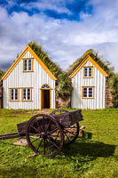 The houses and rural cart