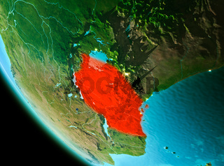 Tanzania in red in the evening