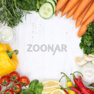 Gemüse Sammlung Tomaten Karotten kochen Zutaten Quadrat Hintergrund von oben