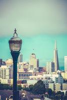 Retro San Francisco Skyline