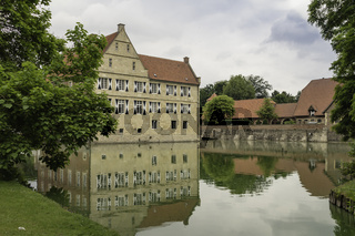 Burg Hülshoff bei Havixbeck, Münsterland, NRW