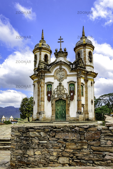 Ouro Preto historic church facade