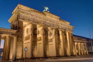 Die Rückseite des Brandenburger Tores in Berlin