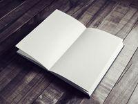 Blank opened book