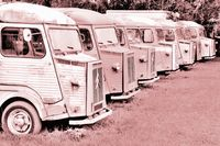 in Reihe alte Transporter alt