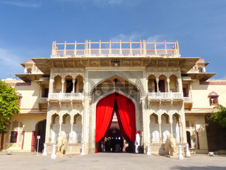 Rajendra Pol in Jaipur City Palace, Rajasthan, India