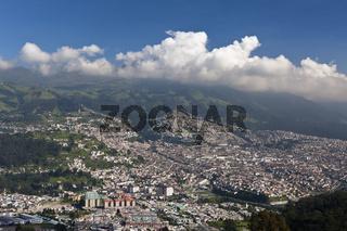Blick auf die Hauptstadt Quito, Ecuador