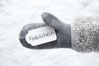 Wool Glove, Label, Snow, Gutschein Means Voucher