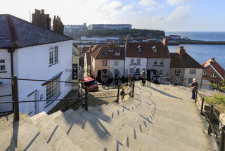 view from the 199 steps whitby
