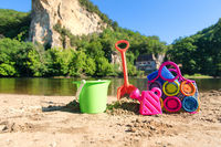 Toys near the river