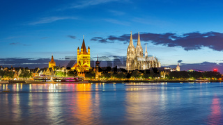 Cologne panorama city skyline, Germany