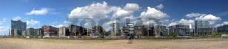 Panorama view of Hamburg
