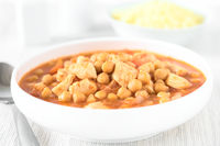 Chicken and Chickpea Stew or Tagine