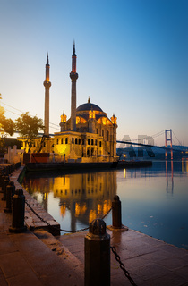 Sunrise over Ortakoy Mosque