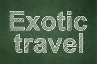Travel concept: Exotic Travel on chalkboard background