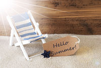 Sunny Label And Text Hello Summer