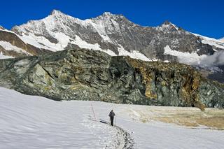 Wander auf dem  Gletscher-Trail Felskinn-Mattmark