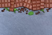 Schokolade Milchschokolade Tafel Schiefertafel Essen Textfreiraum von oben