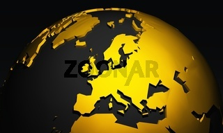 Golden Planet - Europe - Europa Schwarz Gold