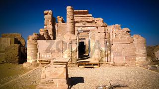 Ruins of Deir el-Haggar temple, Kharga oasis, Egypt