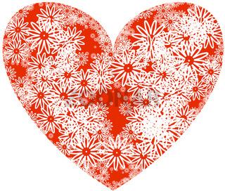 herz-rot-symbol-blüten
