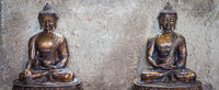 Meditating Buddha Statues couple