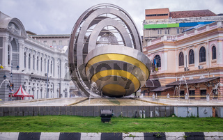 Roundabout fountain statue in Penang, Malaysia