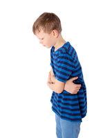 Boy with stomach ache