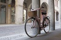 Fahrrad im rosa Häkellook