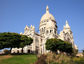 Montmartre hill leads towards the Sacre Coeur church in Paris