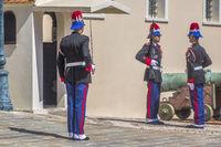 Guards At The Royal Palace Monte Carlo Monaco
