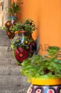 Taormina painted vases, Sicily, Italy